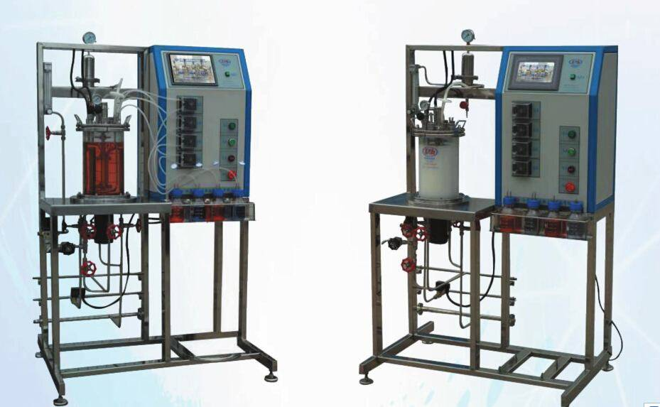 Laboratory In/Out coupling sterilization mixing glass fermentation tank