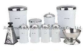 home storage bin stainless steel kitchen set