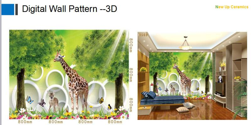 Children bedroom wall decoration Tiles 3D printed