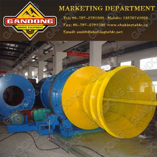 Rotary scrubber for heavy clay and discarding mud