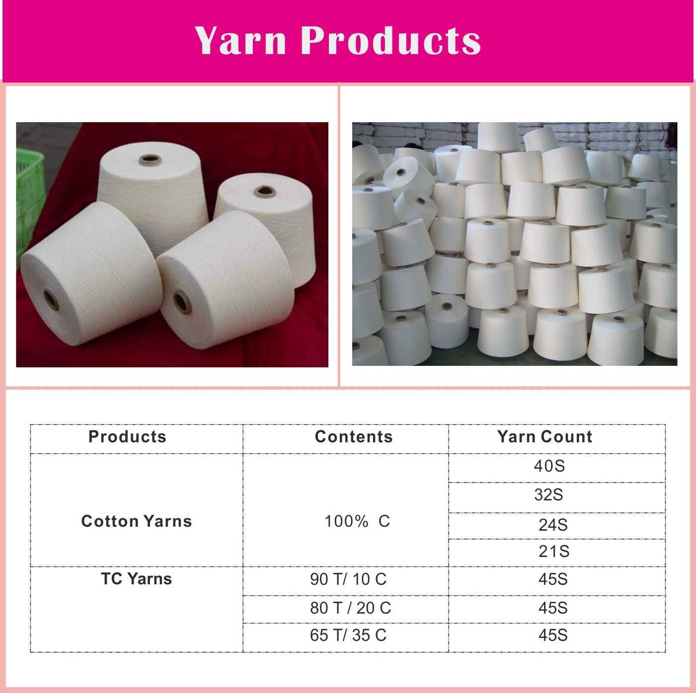 T90/C10 Cotton polyester blended yarn 45S