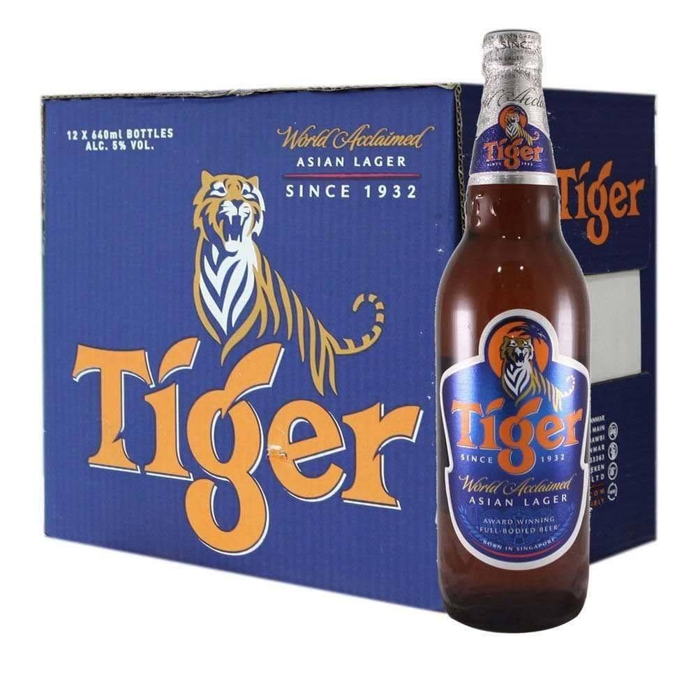 Tiger Asian Lager Beer 640ml Bottles