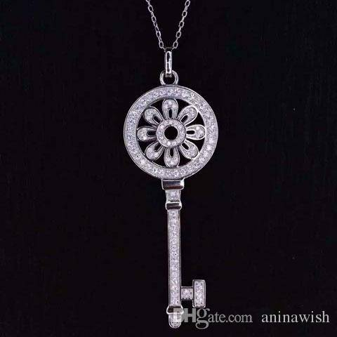 NEFFLY 2016 Fashion new Tiffany 925 silver Key pendant.