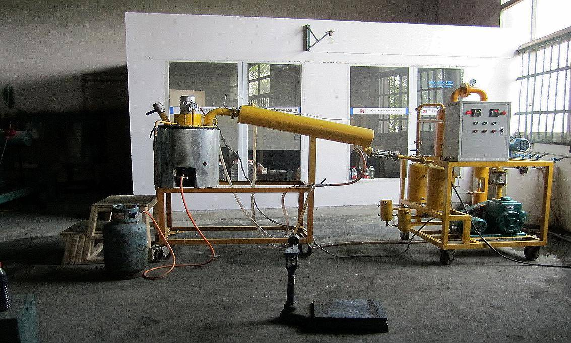 Waste Motor Oil Distillation to Base Oil Decoloring Converting System Series BOD