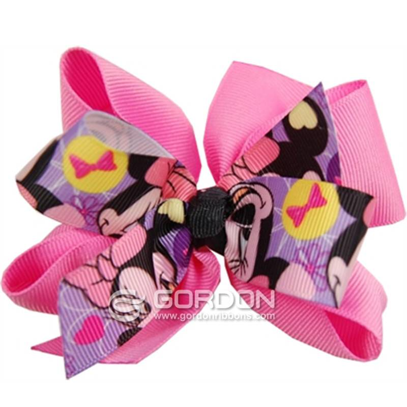 Minnie Mouse Hair Bow,Pink Grosgrain Hair Bow