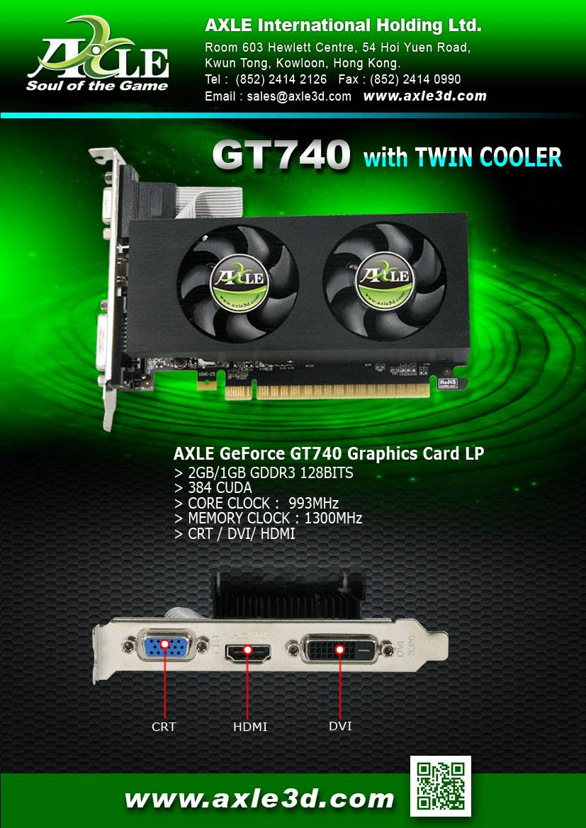 AX-GT740/1GD3P8CDIL Graphics card/
