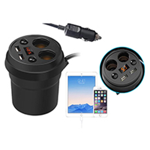 Smart car charger with cigarette lighter