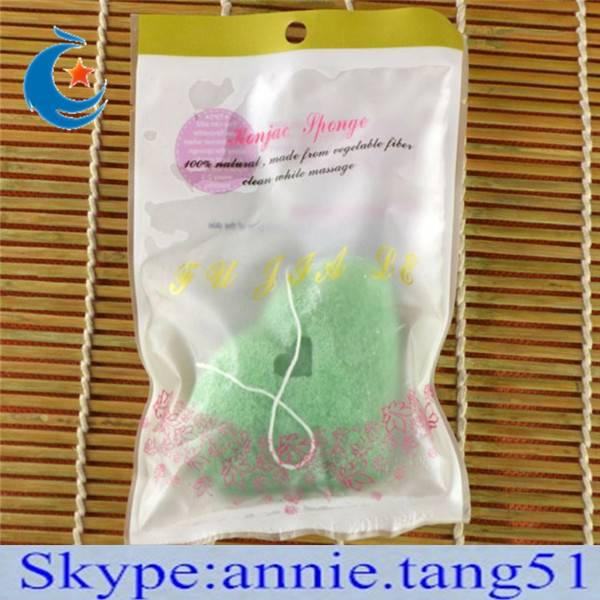 pure natural konjac sponge for skin care and face cleansing