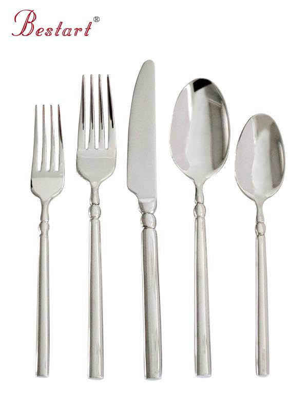 Wholesale mirror polish 18/0 stainless steel dinner set