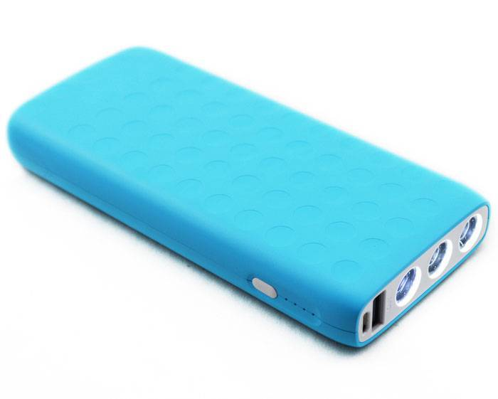 PULLER BRAND POWER BANK dual outputs 3 LED lights 12000mAh power bank