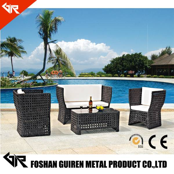 used rattan balcony sofa set for sale with outdoor furniture high back rattan sofa set