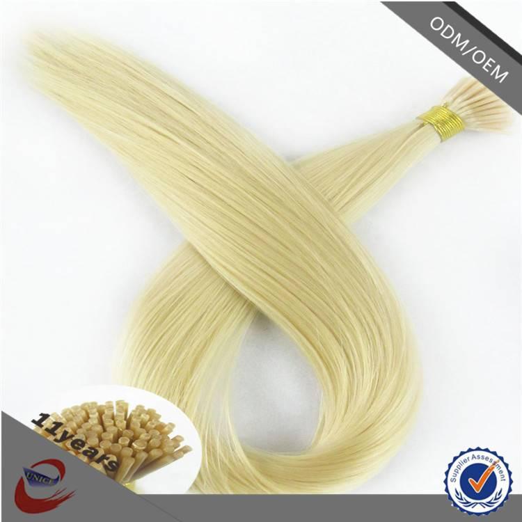Fast Shipping and Free Sample I Tip Hair Extension Virgin European Hair