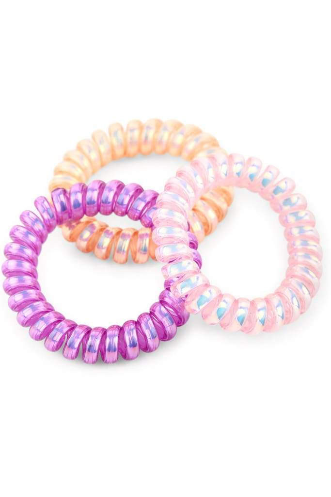 Beauty girl Very Berry Spiral Hair Bobbles 6 Pack elastic hair bands for kids