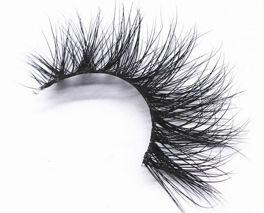Miami style 3D mink fur false eyelashes with invisible band