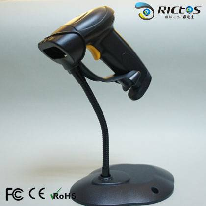 Wired 1D laser barcode scanner with stable quality and competitive price