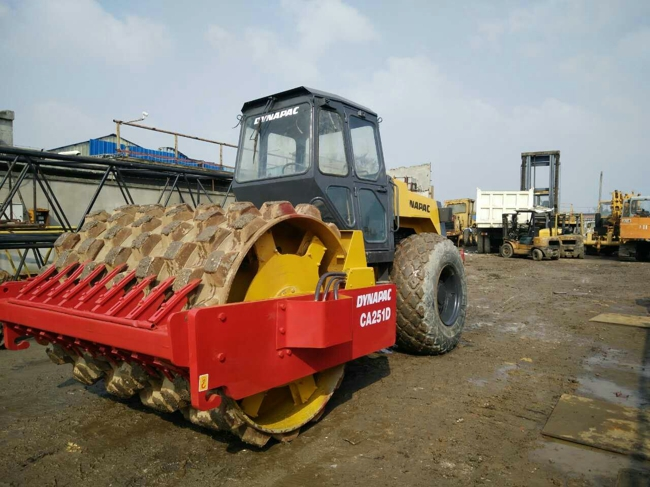 used DYNAPAC CA251D VIBRATORY SMOOTH DRUM ROLLER on sale for road machine
