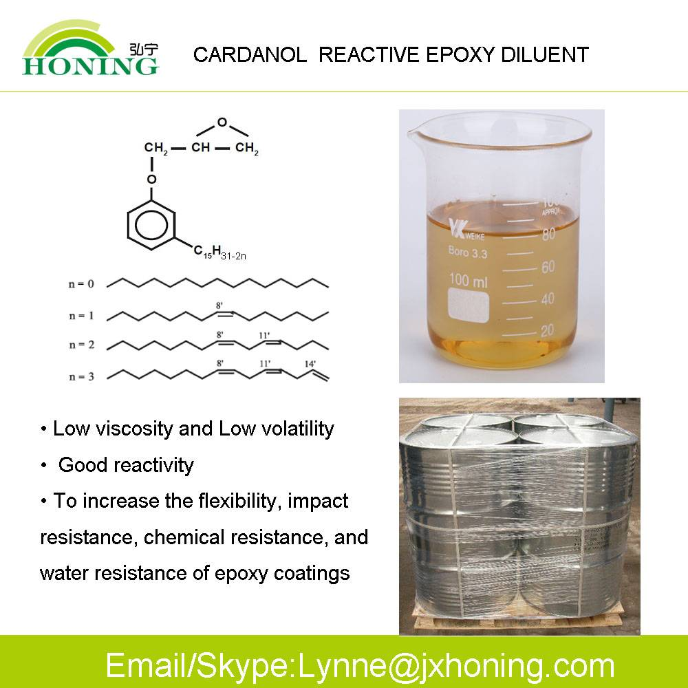 High Purity Abundant Source Cardanol for Phenalkamines Epoxy Curing Agents