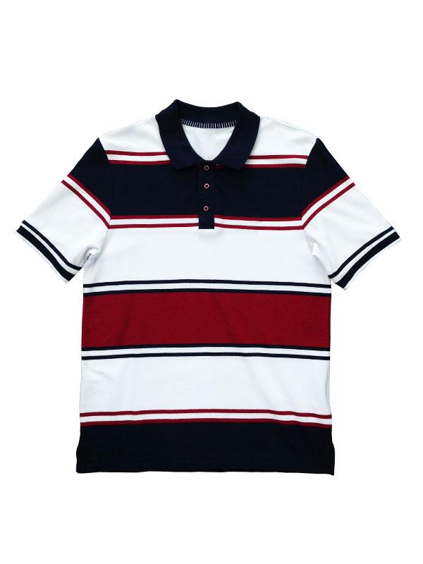ningbo fuzhi garments men's short sleeve classic stripe polo pique tee shirts yarn dye