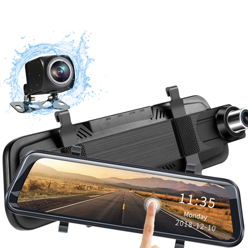 Mirror Dash Camera 1080P with dual lens front and rear camera