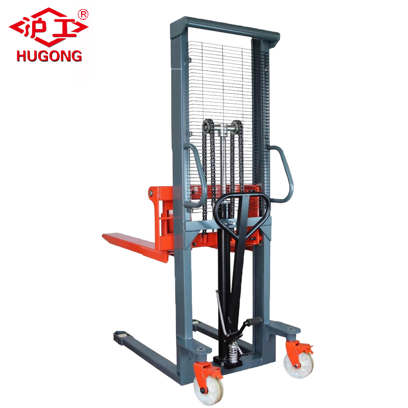 2 .5t Hydraulic Manual Forklift Pallet Stacker for sale