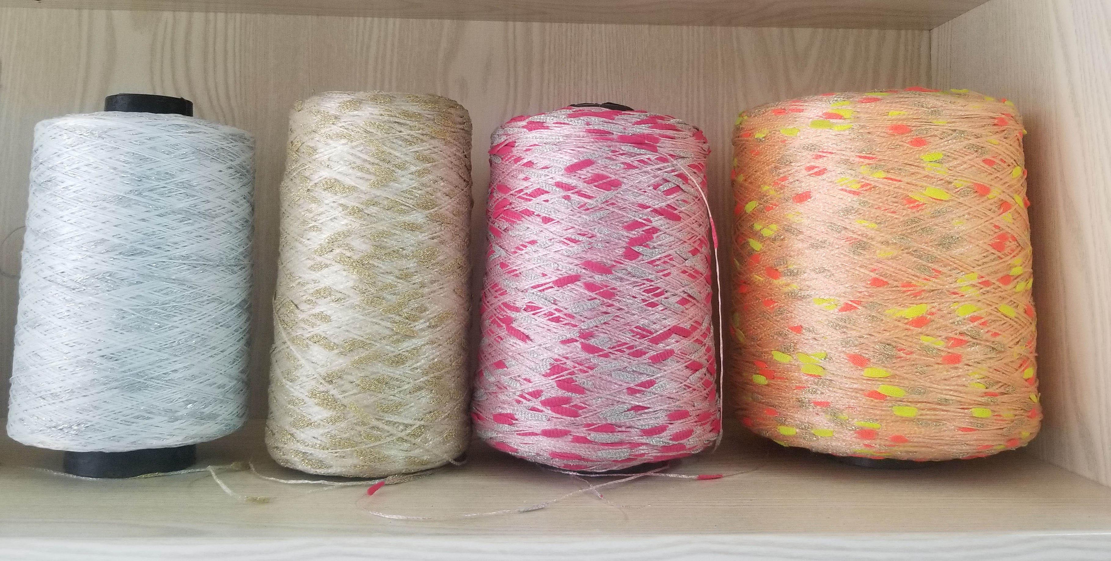 Slubby Yarn, Fancy Yarn 55%Nylon, 45%Poly