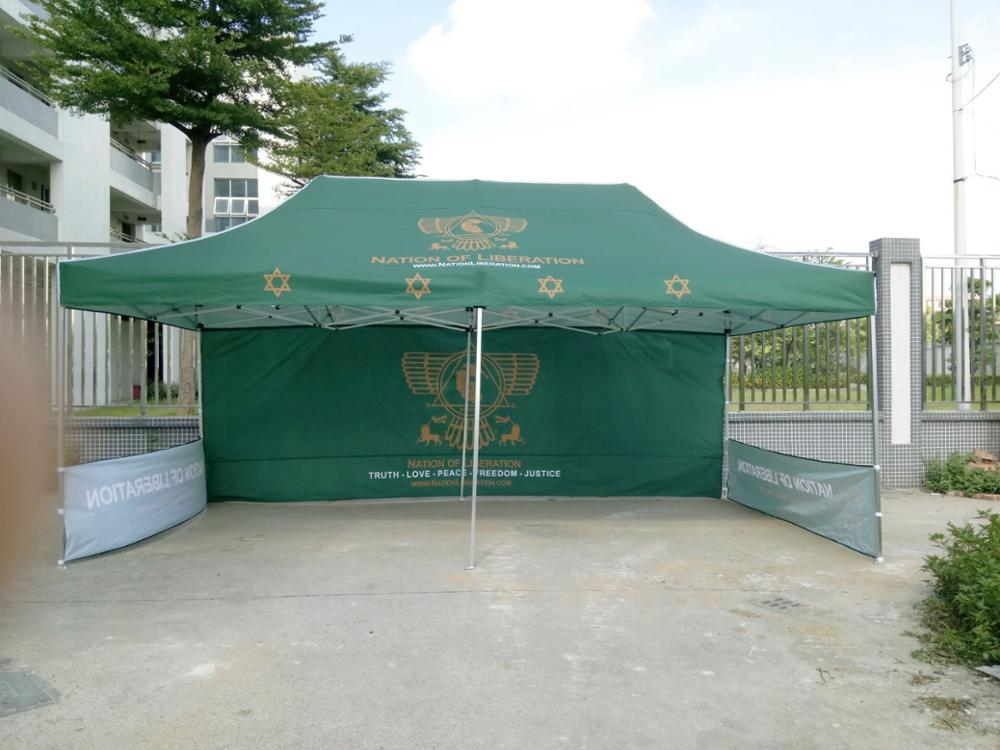 Pop Up Canopy Marquee Custom Logo Printed Favoshow Trade Show Advertising Folding Tent