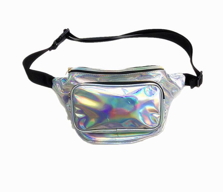 Fashion Laser Waist Bag Leather Belt Waterproof Bag Phone Women Thigh bags Fanny Pack leg bag