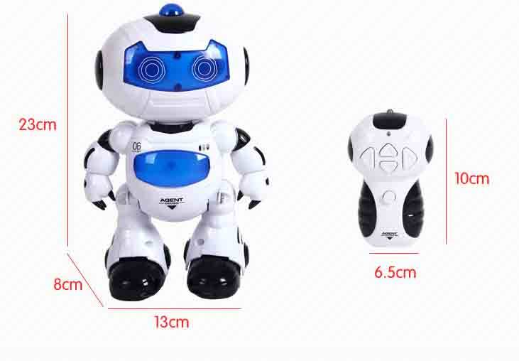 Romote control toy dancing Robot music battery children plastic toys