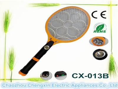 OEM good quality rechargeable mosquito swatter with torch