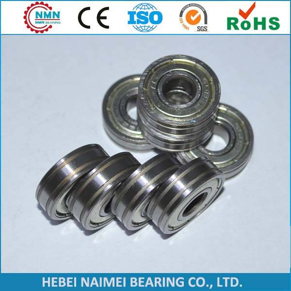 non-standard bearing, double grooves on outer ring bearing, higher inner ring bearing