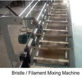 Filament mixing machine make up brush filament mixer