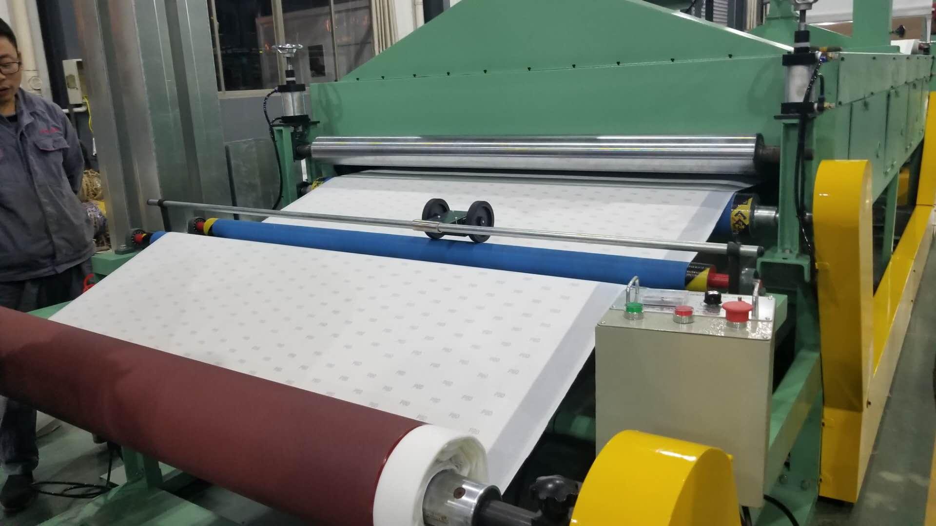 fabric velvet to sandpaper lamination machine coated abrasive hooking looping machine