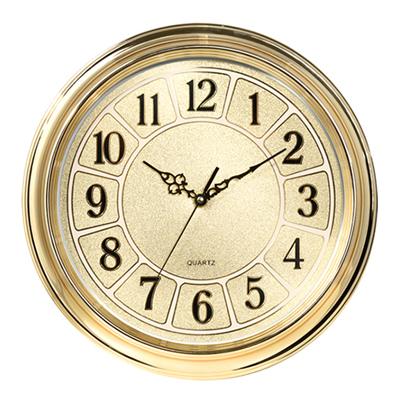 Golden Wall Clock for Office Indoor Clock