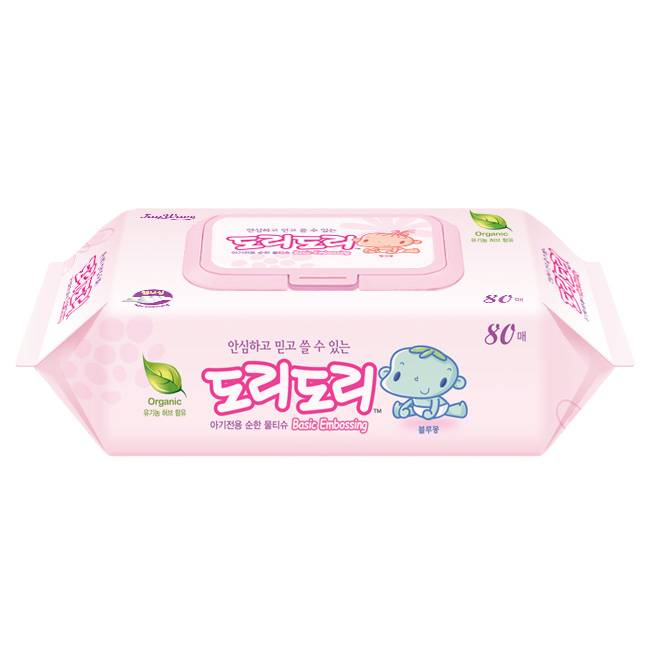 Dori-Dori Basic Embossing baby(Wet wipes/Wet tissue)