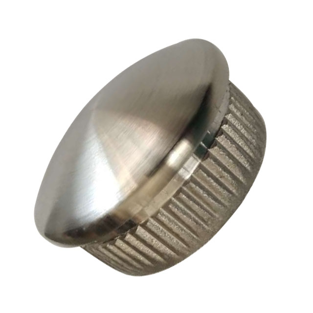 Stock supply investment casting 316 stainless steel knurled pipe cap steel pipe cap