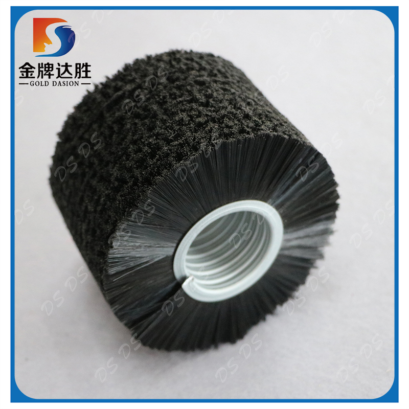Open Wound Brush Spiral Coil Rotary Brush Cylinder Brush With nylon bristle