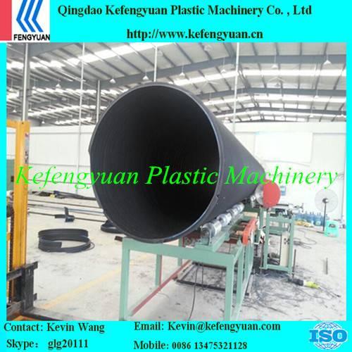 KFY large diameter winding type plastic steel PE HDPE pipe tube manufacturing machine