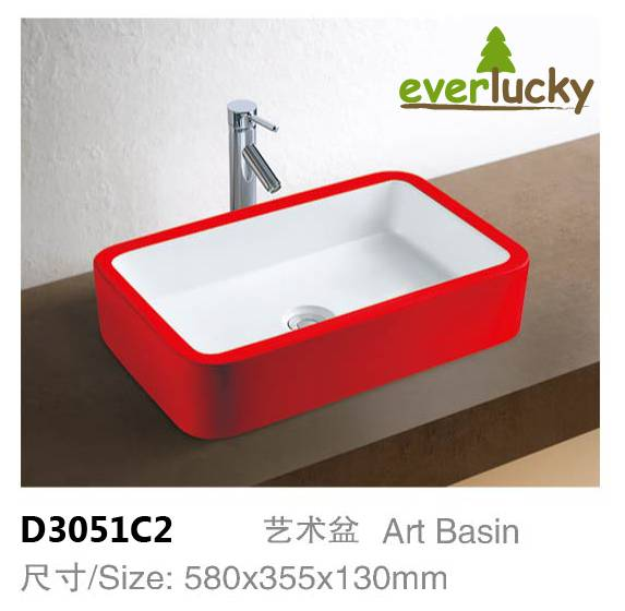Ceramic Art Basin With Excellent Quality And Price D3051C2