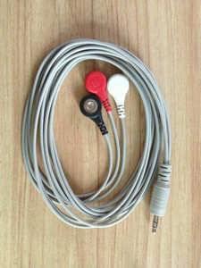 ECG 3-leadwire snap type, AHA 6PIN