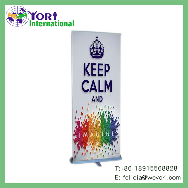 Yori advertising roll up rotating banner stand
