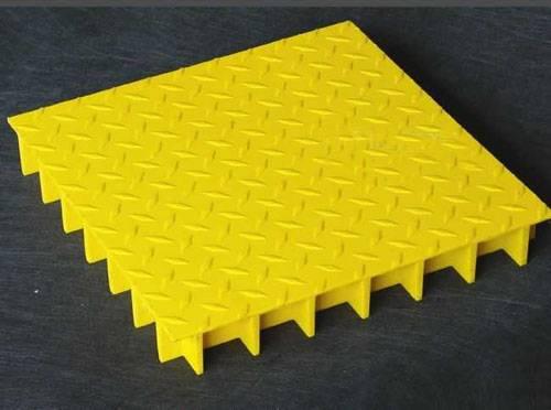 Grit top rectangular FRP grating
