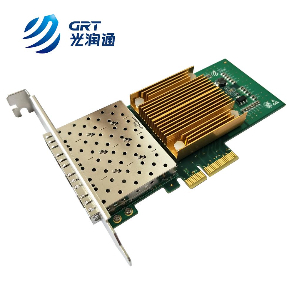1G 4 port SFP PCIe Card Intel I350AM4 based Adaptateur reseau Ethernet fibre optique