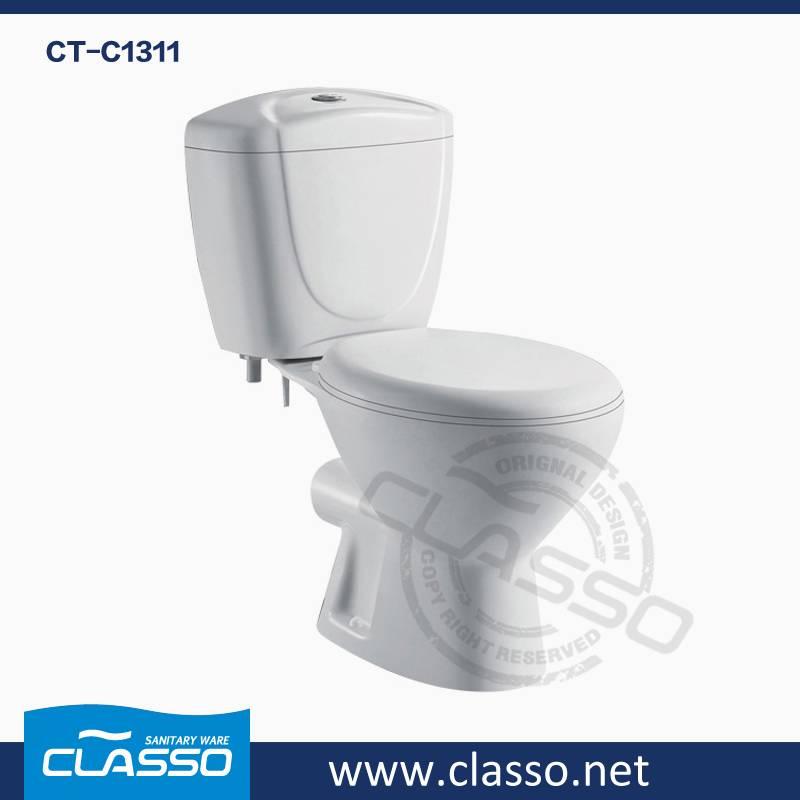 Hot Sale Top Hotel Bathroom Ceramic Sanitary Ware washdown toilet new design 4-inch CLASSO two piece