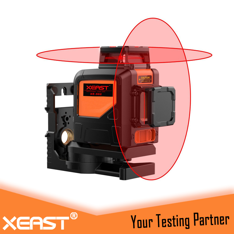 XEAST XE-902R Red Laser Level machine 360 degree 3D 8 lines laser level Waterproof Dropresistant Las