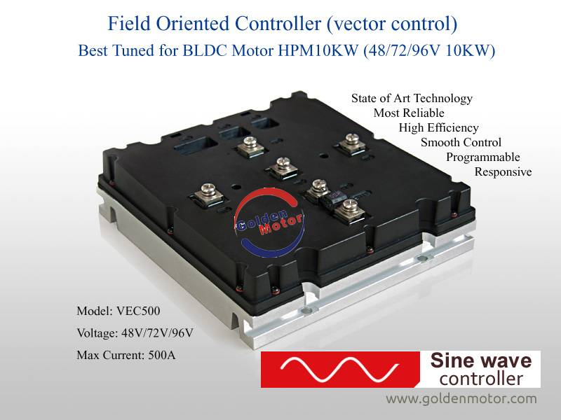 Vec controller for 10KW bldc motor
