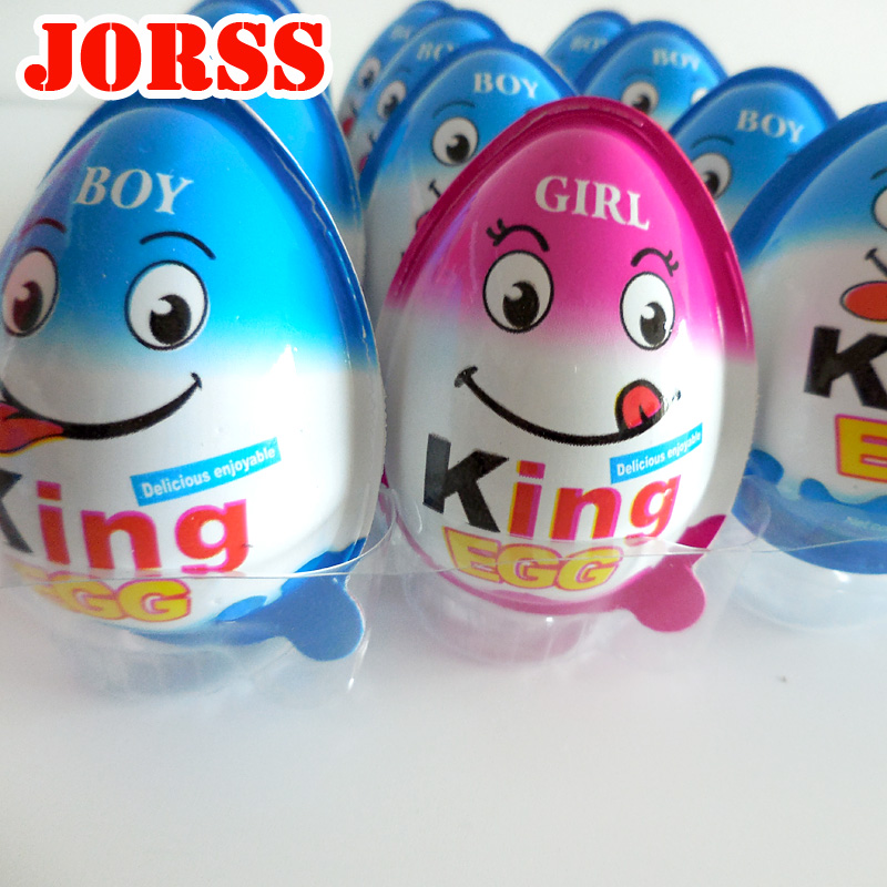 Quality kids' chocolate king egg suprise with fun Toy biscuit ball 12g-25g