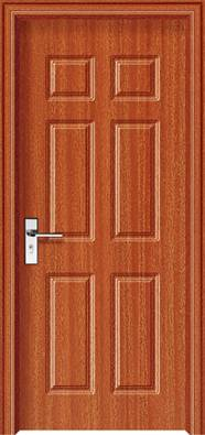 Wooden entry door