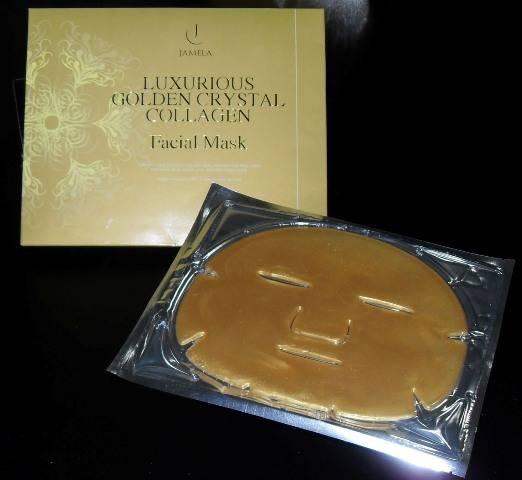 golden facial collagen  mask