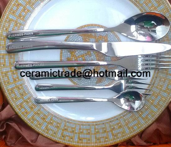 Stainless steel knife and fork spoon set High-end flatware sets