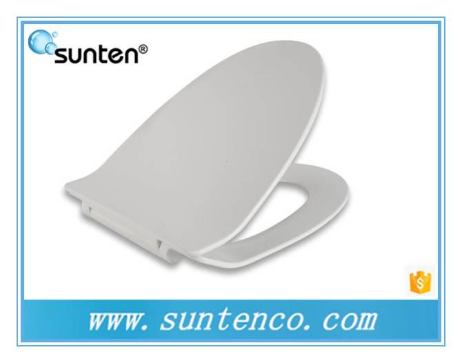 Xiamen White Silent Close Quick Release Ultra Slim V Shape UF Toilet Seat